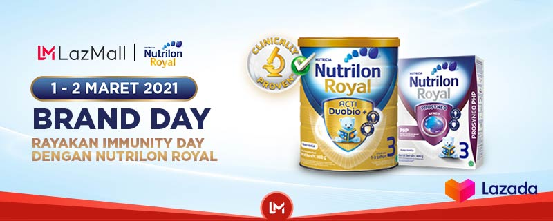 Susu favorit si kecil lagi ada diskon hingga 15% loh! Yuk, segera cek Nutrilon Royal Brand Day cuma dari tanggal 1-2 Maret aja. Jangan sampai ketinggalan, langsung klik disini:   #YakinDariHati #Lazada33Sale #LazadaID