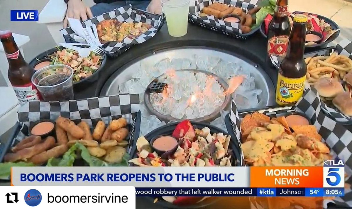 #Repost @boomersirvine with @make_repost ・・・ 🚨Come in 11AM-9PM today & try the tasty food KTLA showcased yesterday!   🎉UNLEASH FUN on our attractions!  Must be 21 and older with a valid ID to purchase alcohol  #family #safe #clean #friends #outside #attractions #yummy #food