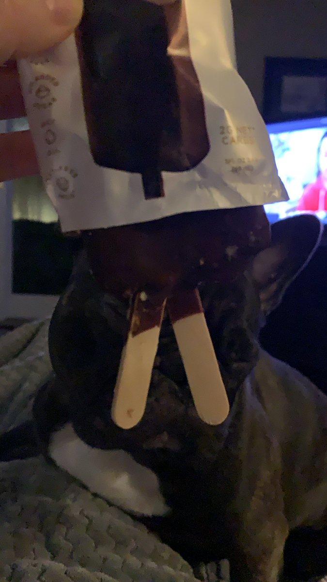 My keto ice cream has two sticks 🤣🤣 hopefully i get double the ice cream 😅
