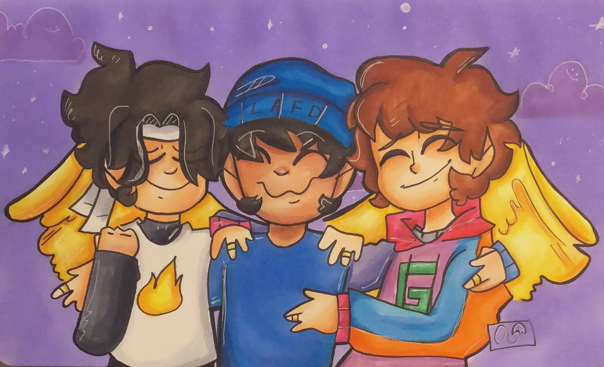 Them. 💕🙇  -retweet and comment please! This is the longest I've spent on a single piece lol! Follow me if you like my art, it's very appreciated!   #mcyt #mcytfanart #art #quackity #karljacobs #sapnap #sapnapfanart #quackityfanart #karljacobsfanart #fiancetwt #fiancetwtfanart