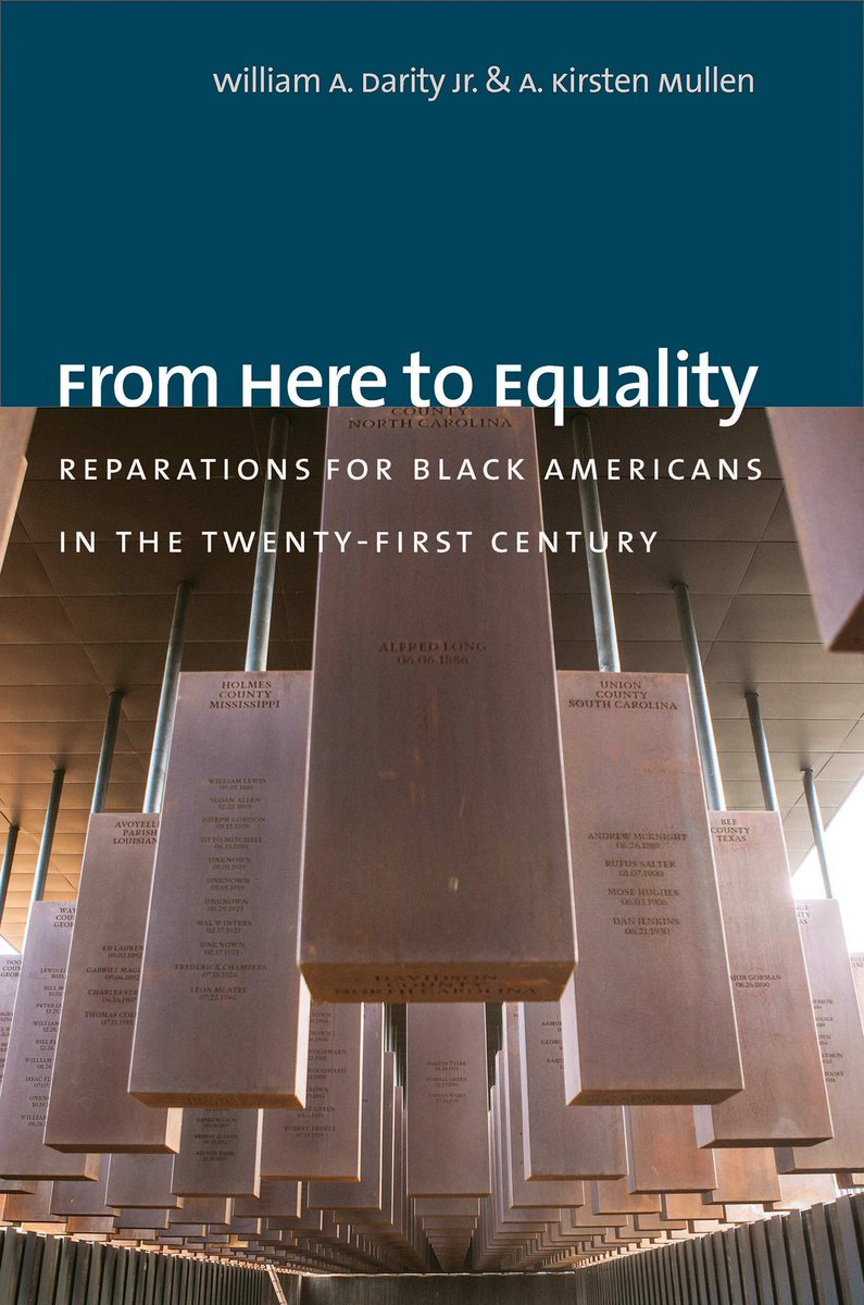 "If you haven't already be sure to add this book to your reading list today. ""From Here to Equality"" by @SandyDarity & Kirsten Mullen. A must read! #Reparations for black American descendants of U.S. slavery.   Acknowledge, redress, closure. #BlackHistoryAlways"