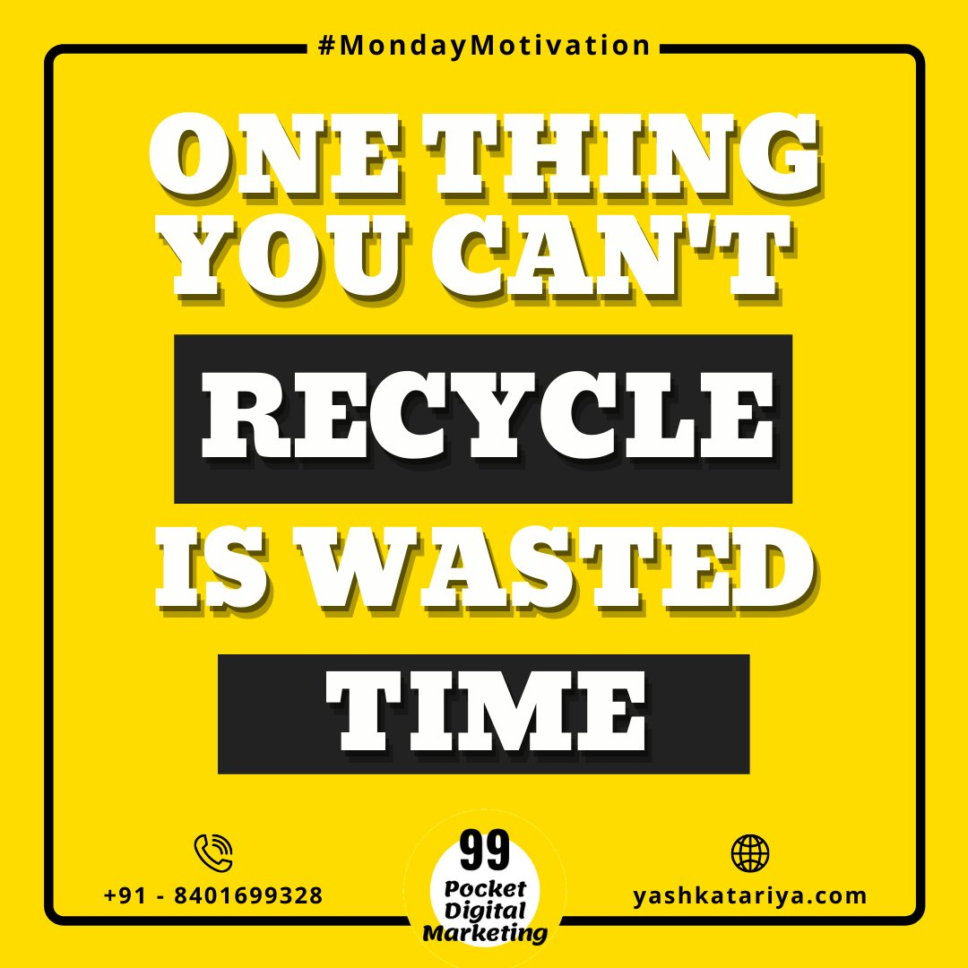 Start New Start Fresh..!!! 😃😇 Don't waste your time in recycling your past. 😉 . . . #MondayMotivation #Mondayblues #AgencyLife #GoodVibes #GoodQuotes #DigitalMarketingAgency #GraphicDesign #Surat #Gujarat #India #SocialMediaMarketing #Instadaily