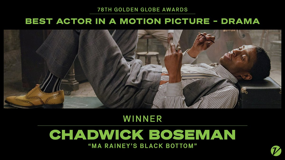 """#GoldenGlobes: Chadwick Boseman wins best actor in a motion picture, drama, for """"Ma Rainey's Black Bottom."""""""