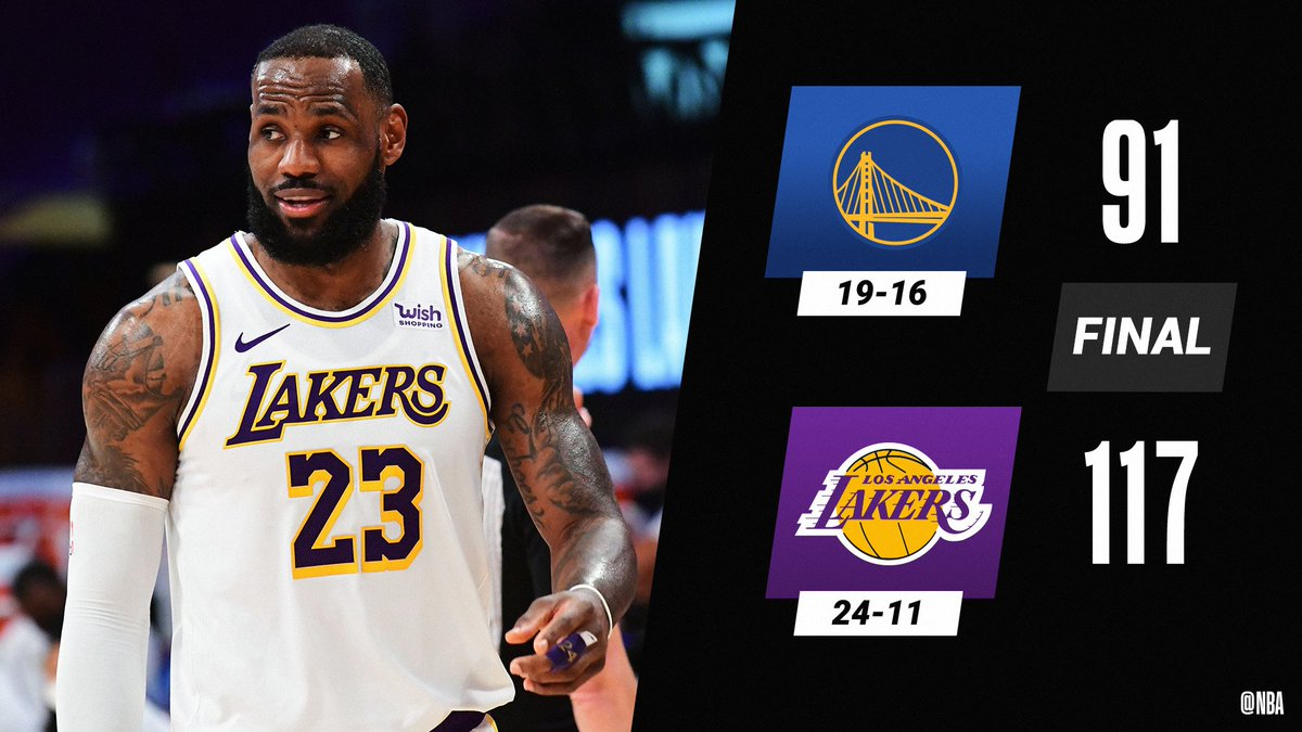Replying to @NBA: LeBron (19 PTS) and the @Lakers win at home!  Montrezl Harrell: 12 PTS, 11 REB