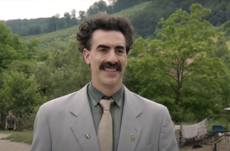 Sacha Baron Cohen es el Mejor Actor de comedia o musical por Borat: Subsequent Moviefilm #GoldenGlobes