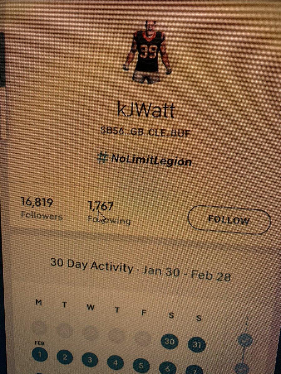 JJ Watt changed his Peloton profile.   Photo from the official @onepeloton site  @KyleBrandt @AdamSchefter @RapSheet   #JJWATTch #GoPackGo #Browns #BillsMafia