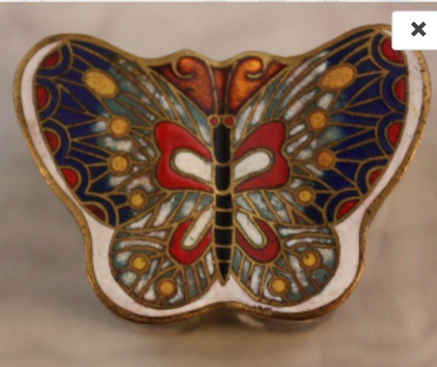 Vintage Cloisonné Butterfly Trinket Box by EmmasAtticTreasures  via @Etsy #Cloisonné #Butterfly #TrinketBox #Gift