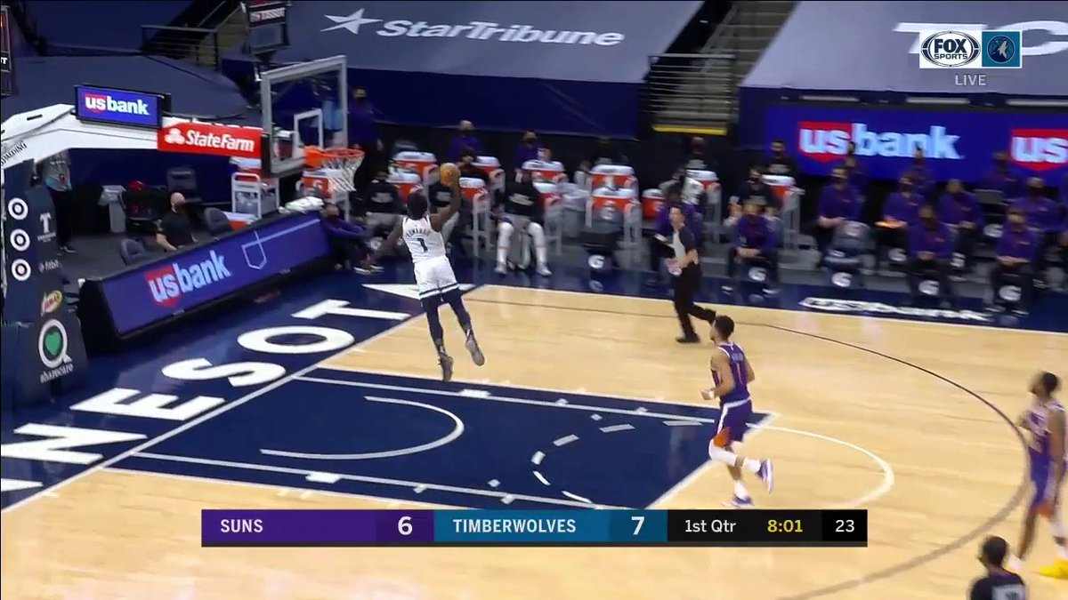 Anthony Edwards threw down some nasty dunks in the #Timberwolves loss to the Suns.  Highlights ⤵️