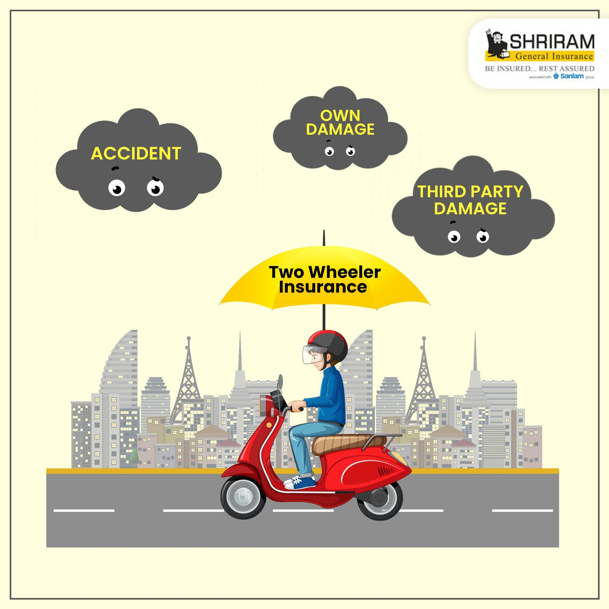 Your two-wheeler takes you to places wherever you want to go. Keep it safe with two-wheeler insurance policy and ensure your financial safety here: ... #ShriramGI #SGI #TwoWheelerInsurance #buytwowheelerinsurancepolicy #staysafe #stayprotected