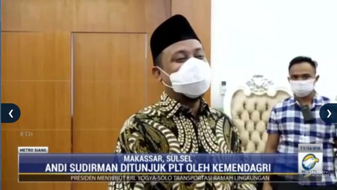 #MetroSiang Setelah Gubernur Sulawesi Selatan Nurdin Abdullah ditetapkan sebagai tersangka, Kemendagri menunjuk Wakil Gubernur Andi Sudirman menjadi PLT Gubernur Sulsel. Streaming: