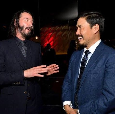 keanu reeves and randall park two of the few men i trust 😌