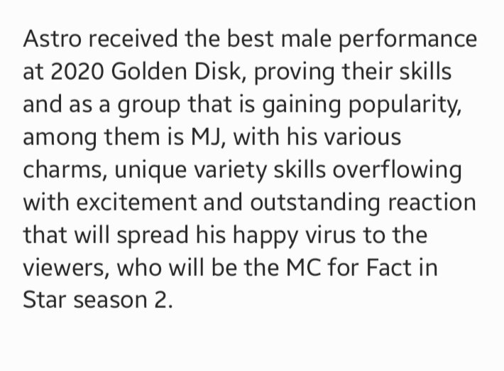 In S2, MJ will play the role of an investigator n u can see the idols act out skits. The idols with their fans will choose their fav songs, receive stories abt concerns from the fans n give advice while recommending a suitable song for the fan.