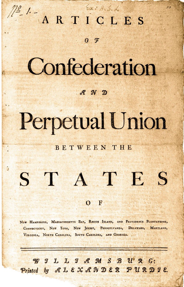 Ratified 240 years ago today was Articles of Confederation, which created such a weak system of government that, in modern times, it might have led to something so absurd and ineffectual as handing response to a catastrophic national pandemic over to governors of the states: