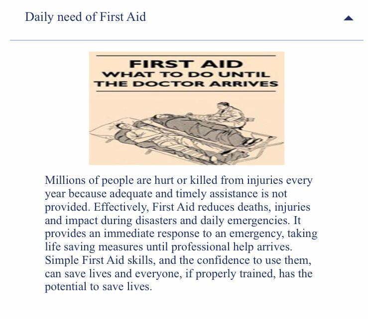 #FirstAid reduces deaths, injuries and impact during #disasters and daily emergencies.   To know more about first aid, download NDMA's app - First Aid for Students and Teachers (#FAST) and save a life!  Android -   IOS -