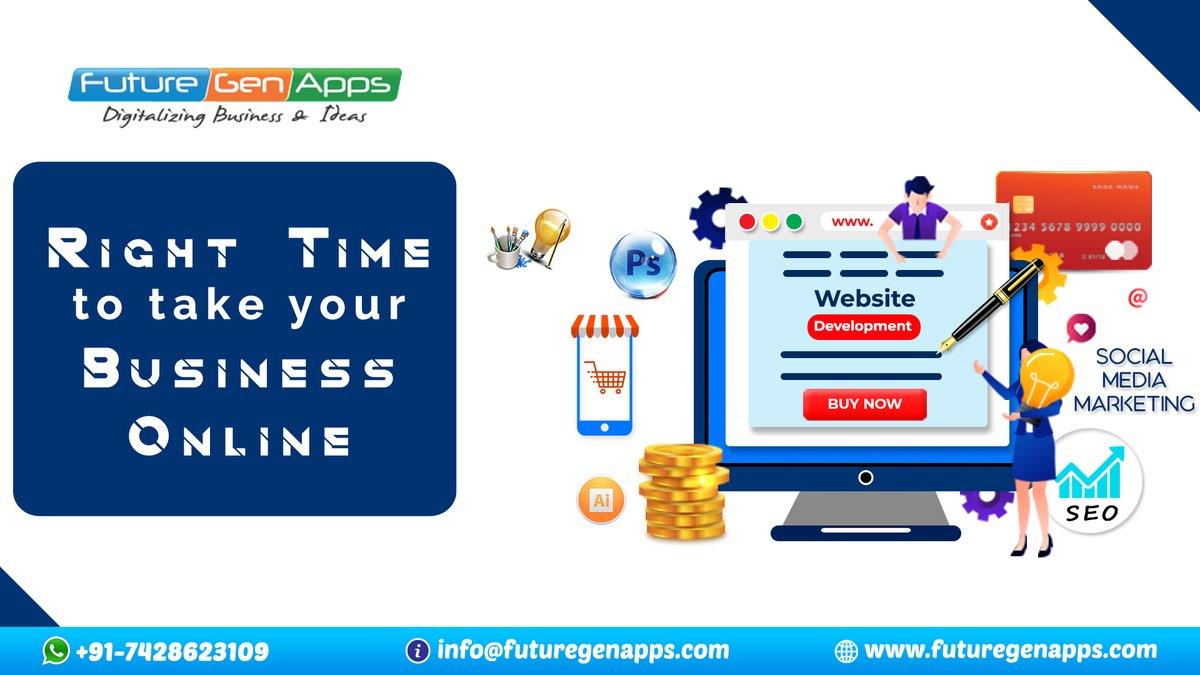 @FutureGenApps Today is the time to Build smarter websites for your online business success.  For Enquiry Call/ Whatsapp: +91- 7428623109 Visit Us:   #FutureGenApps #Online #Websitedesigncompanyinghaziabad #goodmorning #Website #TrendingNow  #thursdayvibes