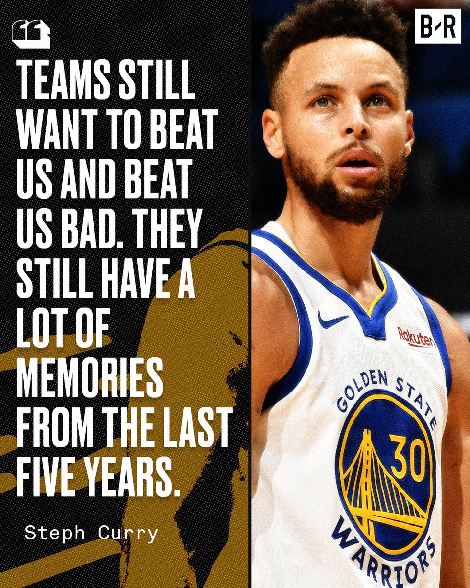 Steph knows the Dubs still have a target on their back.
