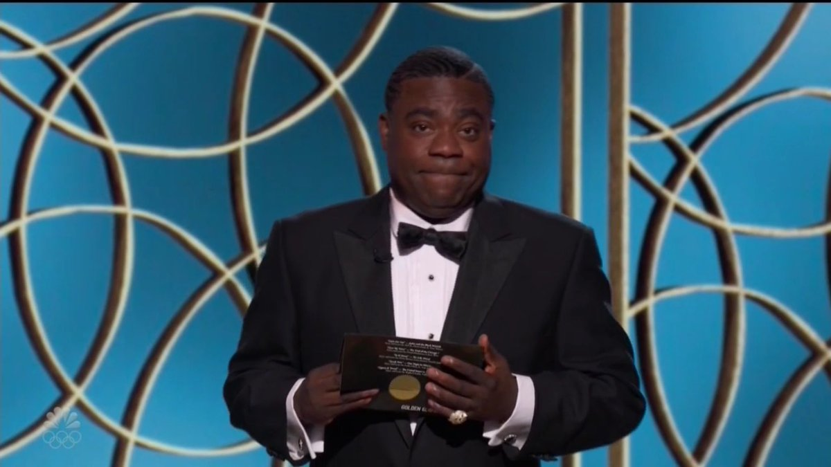 .@TracyMorgan stole the show on the #SuperBowl commercial breaks and now he's stealing the show on the #GoldenGlobes!
