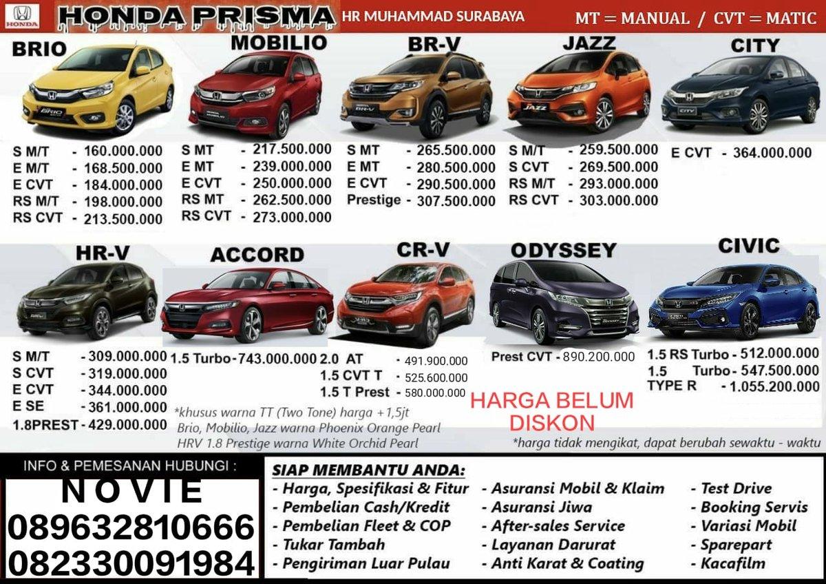 Update Harga Honda Jawa Timur