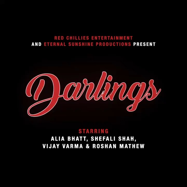 ⚠️Stop scrolling, start reading!⚠️  Presenting #Darlings in association with @eternalsunprod, starring @aliaa08, @ShefaliShah_, @MrVijayVarma and @roshanmathew22.  Directed by @djasmeet and produced by @gaurikhan, @aliaa08 & @_GauravVerma.  @iamsrk @VenkyMysore