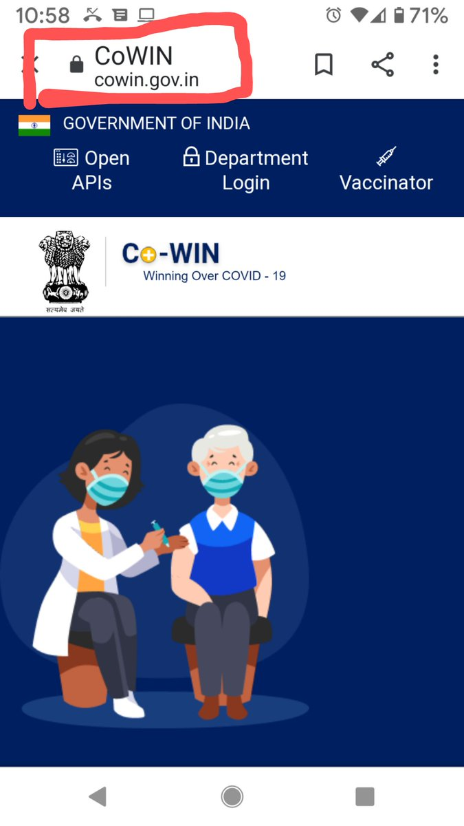 #LargestVaccineDrive  Registration and booking for appointment for #COVID19 Vaccination is to be done through #CoWIN Portal: .  There is NO #CoWIN App for beneficiary registration. The App on Play Store is for administrators only.
