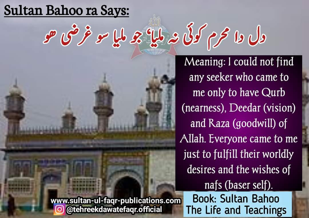 'Sultan Bahoo- The Life and Teachings' is an epitome of the teachings of Sultan-ul-Arifeen Sultan Bahoo (ra), who is the most eminent Saint of the Subcontinent  #sultanulashiqeen #sultanbahoo #tdf #mysticism #spirituality #sultanularifeen #tehreekdawatefaqr