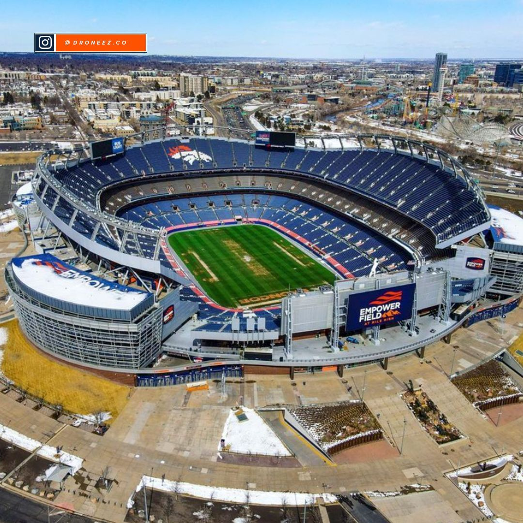 #Denver Broncos: A beautiful day in the neighborhood. ⠀ ⠀ : @droneez.co...       #AmericanFootballConference #AmericanFootballConferenceWestDivision #Broncos #Colorado #DenverBroncos #Football #NationalFootballLeague #NFL