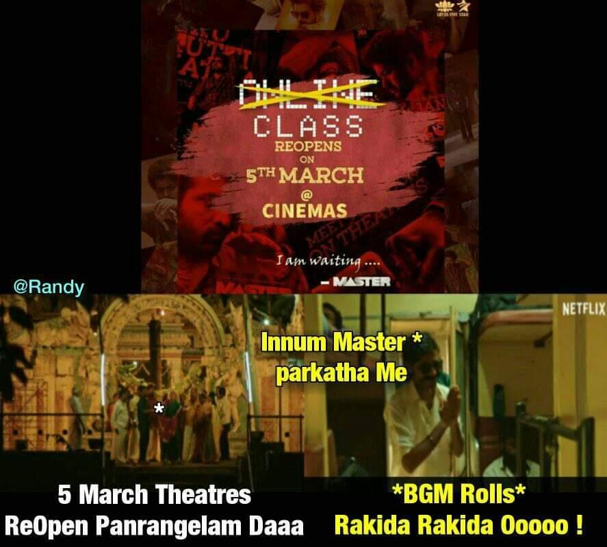 Malaysia le theaters open panne porange 💪🏻  Naa padam pattuten but iruntalum Thalaivane again big screen le poi papen 💥👊🏻  #VaathiComing 🇲🇾  #Master #Thalapathy65  @actorvijay