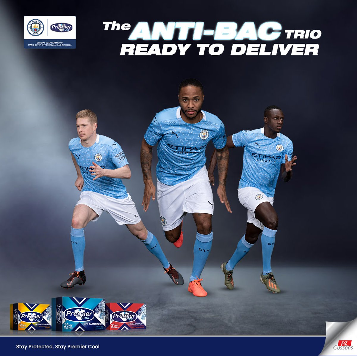 Specially formulated to give you 25HRS of protection and icy freshness. The anti-bacterial trio leaves you feeling confident and ready to deliver in your tasks.  Stay Protected. Stay Premier Cool   #PremierCool #MCFC #CoolSquad #StayConfident #IcyFresh #Protection #StayProtected