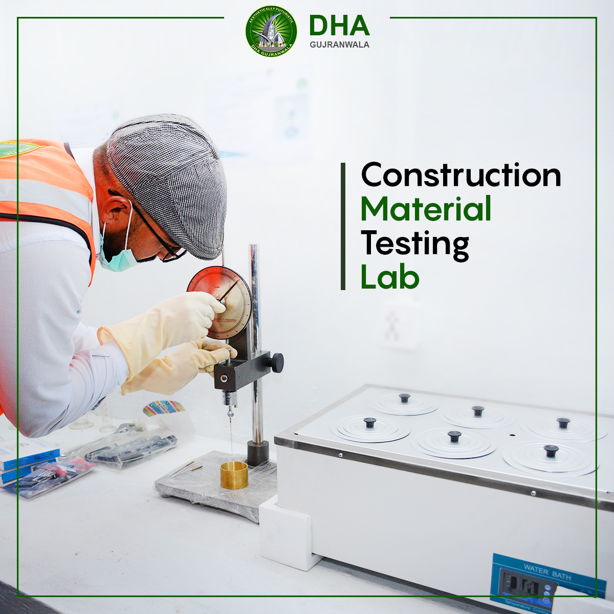 Ongoing construction material testing at the laboratory.  Development work has paced up since the construction material testing is now being conducted at DHA Gujranwala's own lab to avoid any delays.   #itsdhagwa #DHAGujranwala #futuristic #inauguration #laboratory
