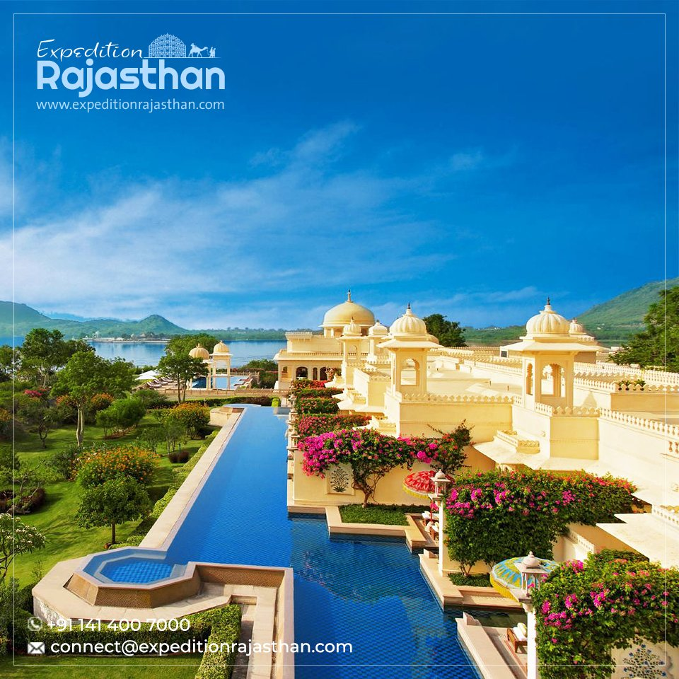 In a city of majestic palaces and beautiful lakes lies Udaipur's Oberoi Udaivilas. For holiday packages, please call +91-141-4007000 Email: connect@expeditionrajasthan.com #OberoiUdaivilas #udaipur #expeditionrajasthan #travel #tours #Rajasthan #luxuryhotel