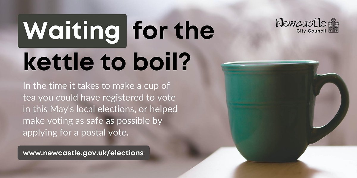 It only takes a few minutes to register to #vote in this Mays #LocalElections or, if youre already registered, to help make voting as safe as possible by applying to vote by post #YourVoteMatters So why not, while your tea is brewing, find out more at orlo.uk/fNfUP