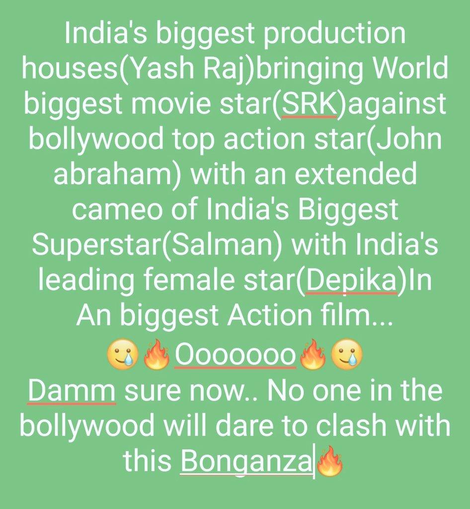 #ShahRukhKhan #SalmanKhan #YRF #SpyUniverse #DeepikaPadukone #JohnAbraham #Pathan #adityachopra