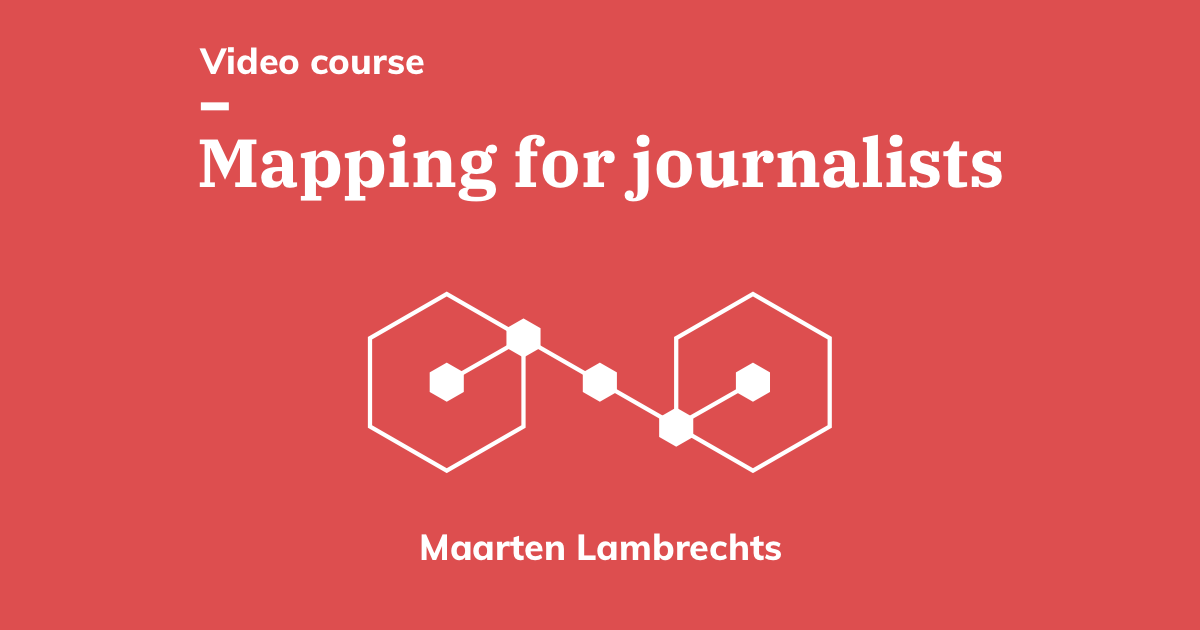 Interested in creating interactive or static #maps? Join this *free* video course taught by @maartenzam and learn how to use the tools you need to make geographical analysis: https://t.co/xSSWXukQZN #datajournalism #dataviz https://t.co/W1z13rFjiD
