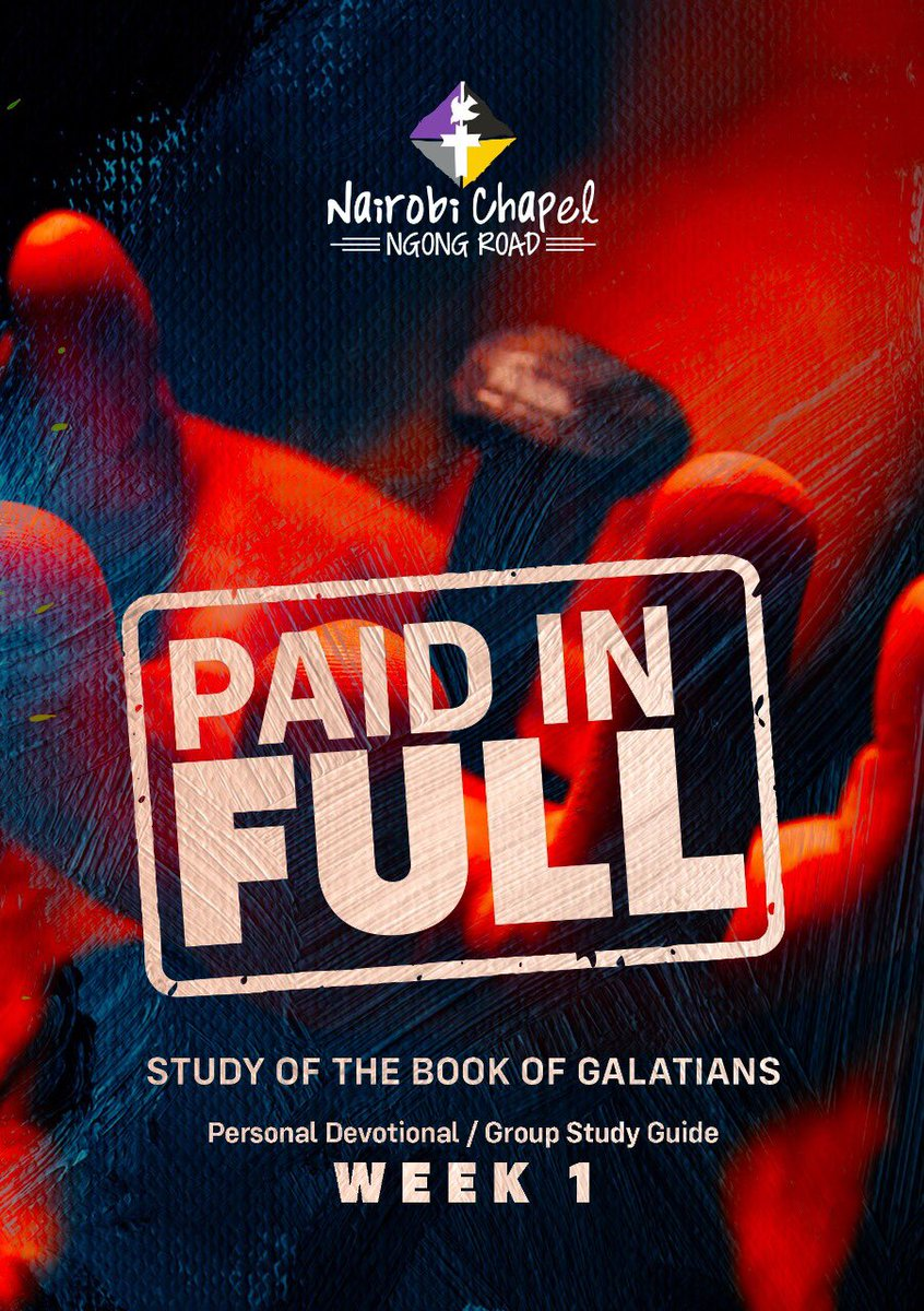 As we begin a new month, we move to the book of Galatians written by Paul where he reminds us that we are heirs of God as His own children.  We pray that as you daily do this devotional study, you'll be affirmed as you evaluate a true gospel.  #PaidInFull