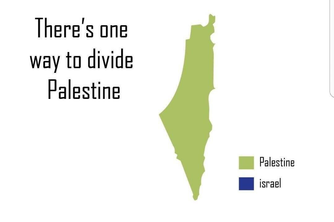 La única solución y la única forma de garantizar la paz ... Hay una forma de dividir Palestina #PalestinaLibre #FreePalestine #dttwtselfieday
