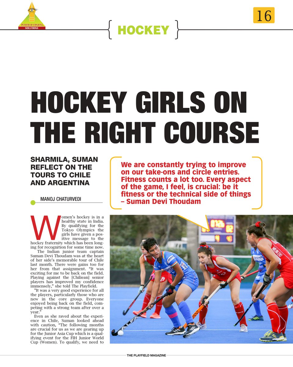 Read about our young-guns Suman Devi and Sharmila Devi reflecting on their tours of Chile and Argentina. 🏑  #IndiaKaGame @vijaylokapally @playfieldconte1 @CMO_Odisha @IndiaSports @Media_SAI @sports_odisha