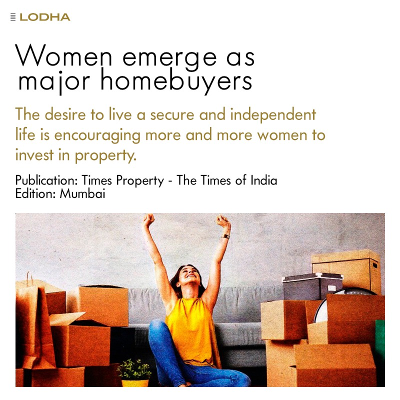Increasing number of women have added real estate to their investment portfolio. Looking for homes that offer safety & proximity to their workplace, their desire to live an independent life is encouraging more women to purchase #ApnaGhar. #BuildingABetterLife #Homebuying #Women