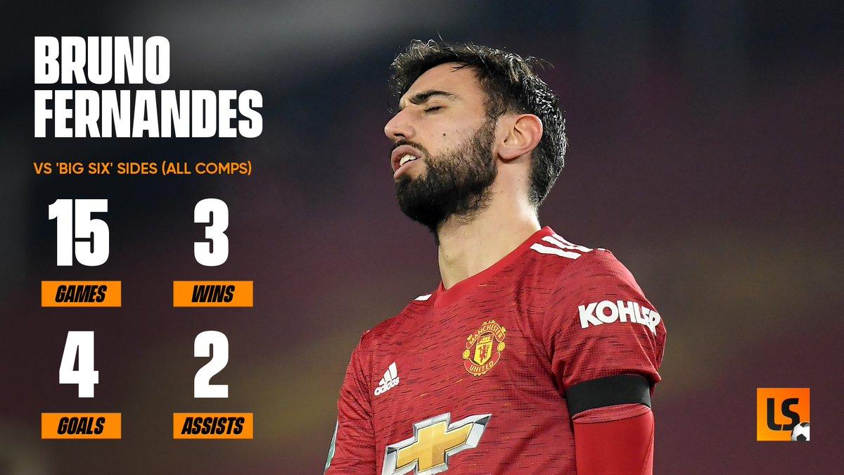 Does Bruno Fernandes go missing in big games for Manchester United? 🔴🇵🇹🤨  #Fernandes #ManUtd #ManchesterUnited #MUFC