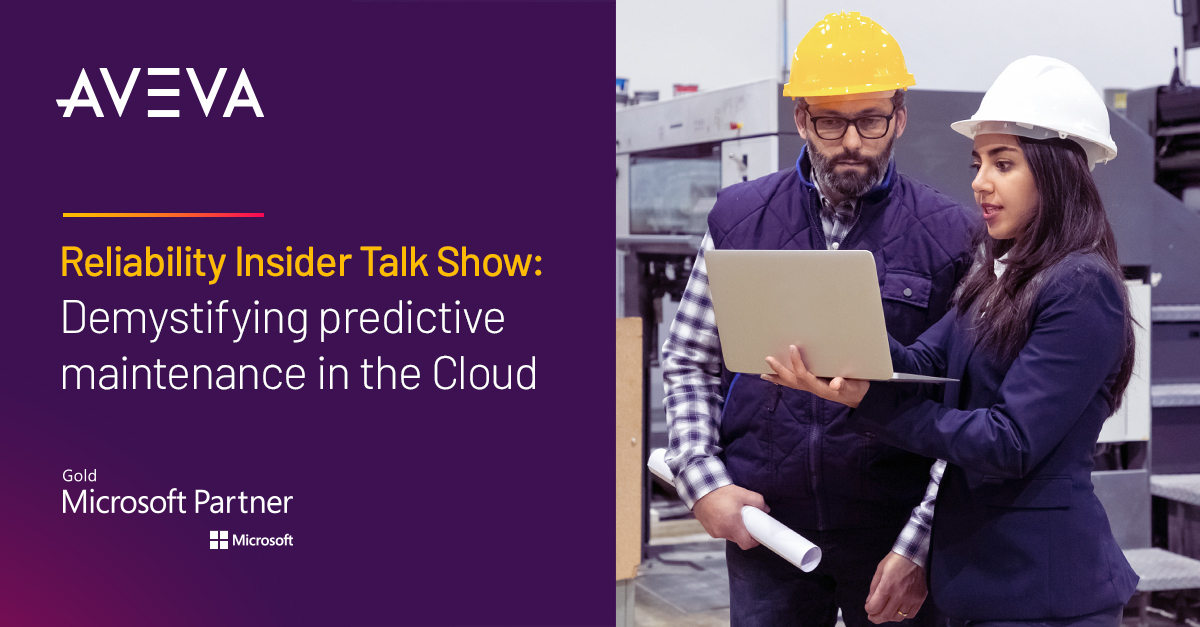 Join AVEVA's Justin Thomas, @Microsoft's Francois Richard, and Terrence O'Hanlon from @reliability  in our upcoming Reliability Insider Talk Show to explore predictive maintenance in the #cloud. Register here: https://t.co/A5QksYQxKa #APM #MSPartner https://t.co/970qS6RBsP