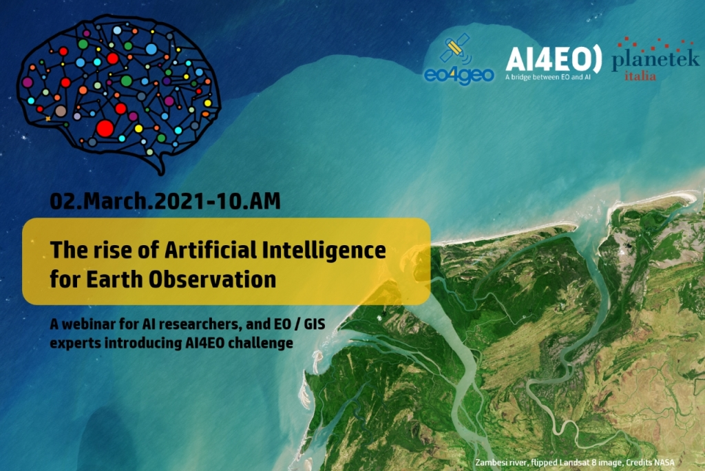 The #EO4GEO webinar is happening tomorrow 📢 Meet us at 10:00 CET⏰ All #AI🤖 researchers, #EO 🛰️🌎experts, GIS technicians, and technology enthusiasts are invited to participate! Register now🔗eo4geo.eu/training-actio… #AI4EO ai4eo.eu #AI4AirQuality