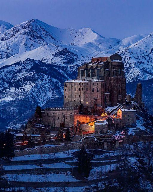 The Sacra di San Michele is an abbey, monte Pirchiriano Torino (Italy)