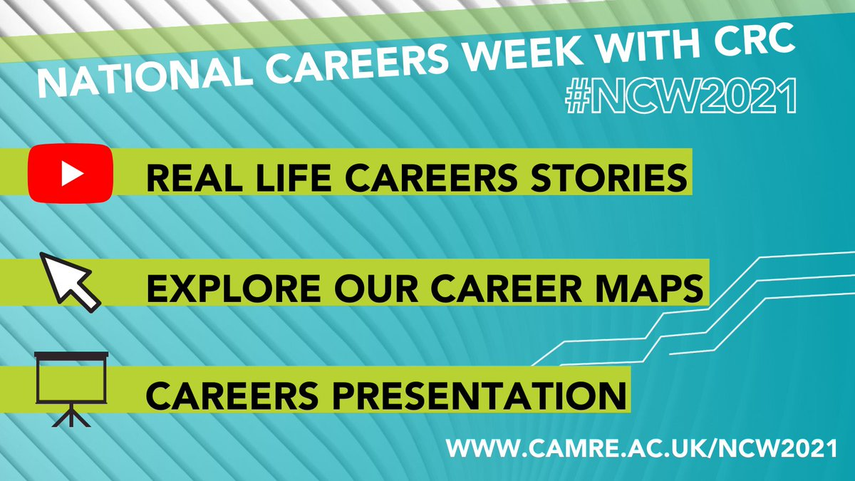 It's National Careers Week 2021!   National Careers Week aims to provide careers guidance to those leaving education. 📚  During the week, we will share resources that will explore the variety of career paths available.  Access these resources: https://t.co/IWWyYSvEvw  #NCW2021 https://t.co/JLEQvtsIpq