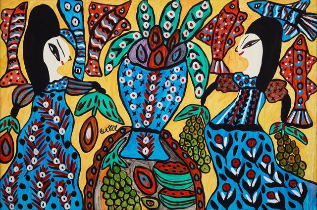 Debut solo exhibition of Algeria's Baya Mahieddine at the Sharjah Museums Authority #amman #jordan