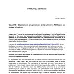 Image for the Tweet beginning: Covid-19: déploiement progressif des tests