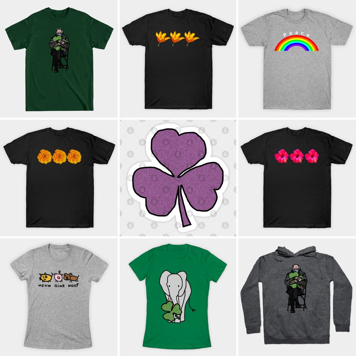 #SOLD these #tshirts #hoodie  and #sticker from @TeePublic yesterday. #thankyou #USA buyers Find these designs and more here  #ellenhenryart #TeePublic #ChristmasCountdown #digitalart #BernieSanders #StPatricksDay #florals #rainbows