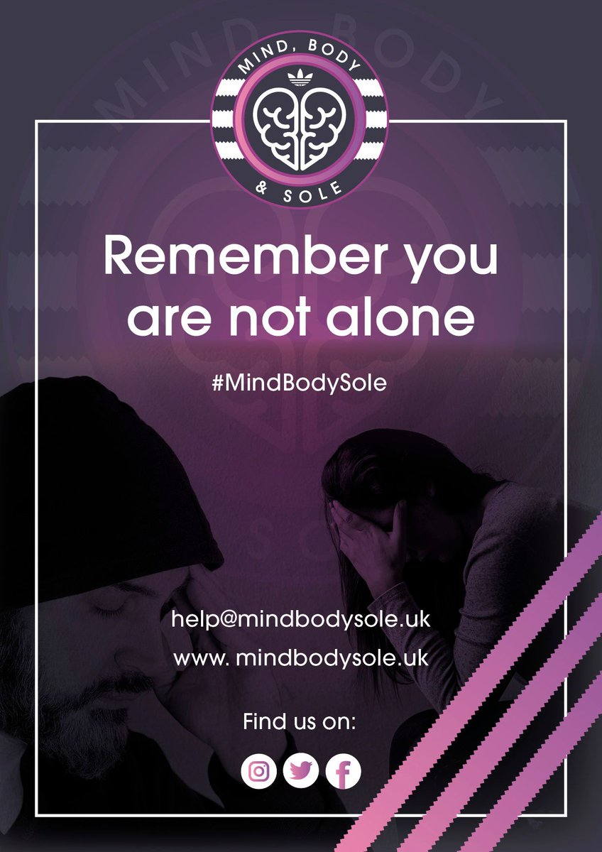 Please remember you are not alone.   Along with our cards you can now spread the awareness with our poster.   Please spread the awareness on your social media pages and also in your work place if allowed.   #MindBodySole #MentalHealthAwareness