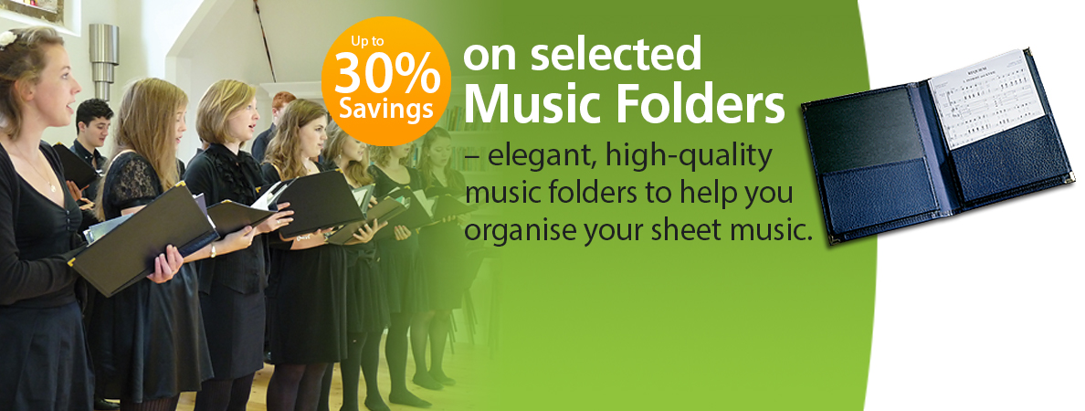 Our fantastic monthly offer this March is up to 30% Discount on our Choral & Orchestral Music Folders - elegant, high-quality folders with brass-bound corners to organise your sheet music:   https://t.co/bsPaI18ilt https://t.co/O6r49DQYLB