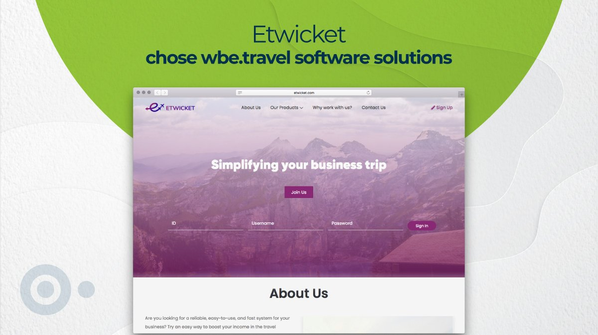 So as the fresh energy of the spring enriches our energy so do our fresh new clients. We welcome with open arms our newest client Etwicket and we thank them for choosing  as their partner:   #traveltechnology #travelagency #travel