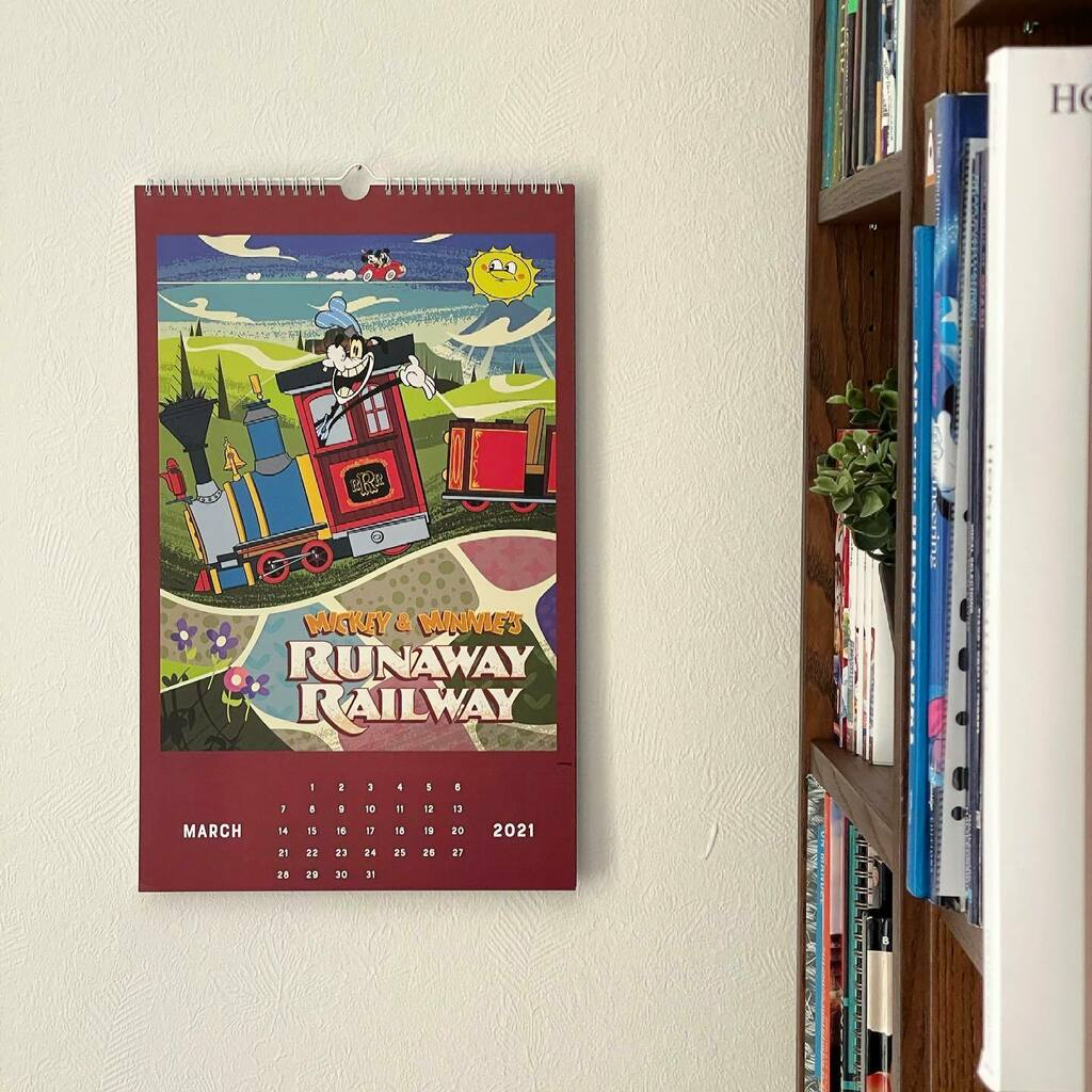 It's Mickey & Minnie's Runaway Railway March on my Disney Parks Calendar! °o° 🗓 March 2021 . #newyear #happynewyear #2021 #disneyparks #disneyparkscalendar #mickeymouse #mickeyandminnie #runawayrailway #dhs #hollywoodstudios #disneyshollywoodstudios …