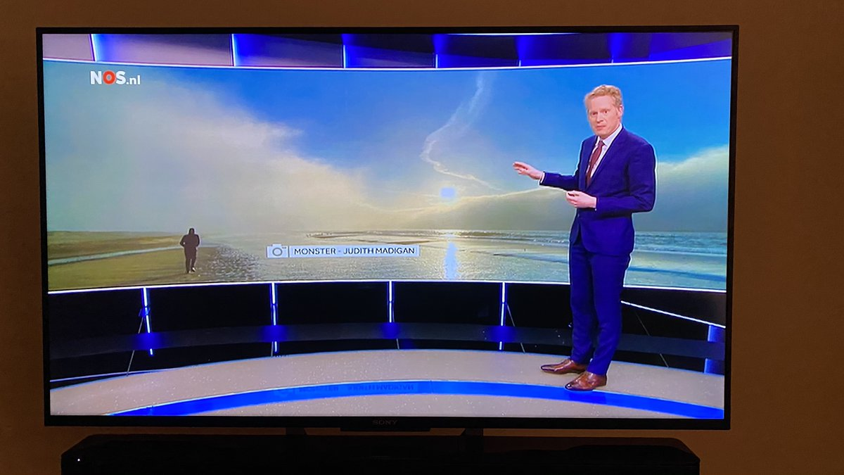Big surprise this Saturday! My image made it to Dutch National TV at eight o'clock news (NOS Achtuurjournaal). Ten seconds of fame... 😀   @MarkvanLuyk #photography #NOS #NOSweer #Monster #beach #weather #nature
